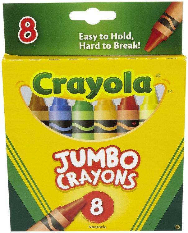 Crayola Jumbo Crayons - Assorted Ink - 8 / Box