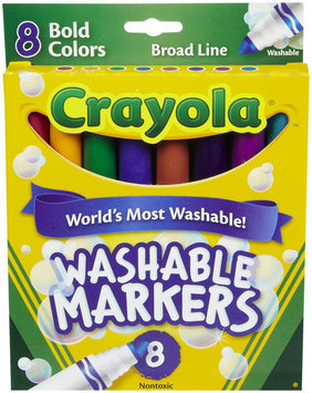 Crayola Broad Line Washable Markers-Bold Colors 8/