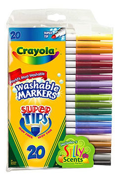 Crayola 50ct Washable Super Tips Markers w/Silly Scents