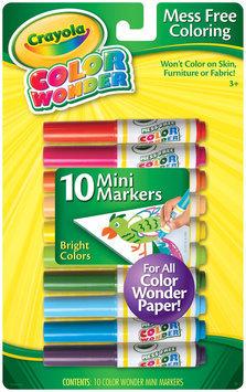Crayola Color Wonder Mini Markers Bright 10ct