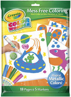 Crayola CW Metallic Coloring Pad & Markers