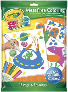 Crayola CW Metallic Coloring Pad & Markers