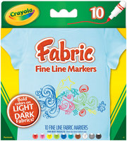 Crayola 10ct FineLine Fabric Markers (replacing 58-8623)