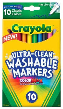 Crayola 10 Ct Ultraclean Fineline Classic