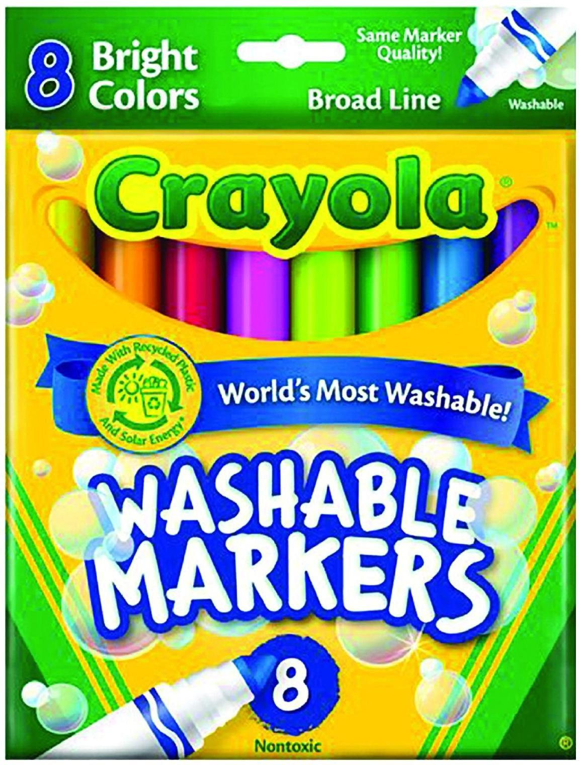 Crayola 8ct Bright Wash Broadline Markers