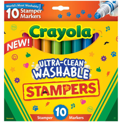 Crayola 10ct Ultra Clean Expression Stamper Markers
