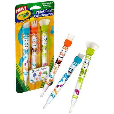 Crayola 3ct Paint Pals Paint Brushes