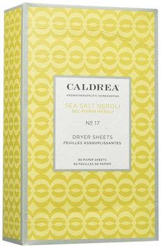 Caldrea - Dryer Sheets Sea Salt Neroli - 80 Sheets
