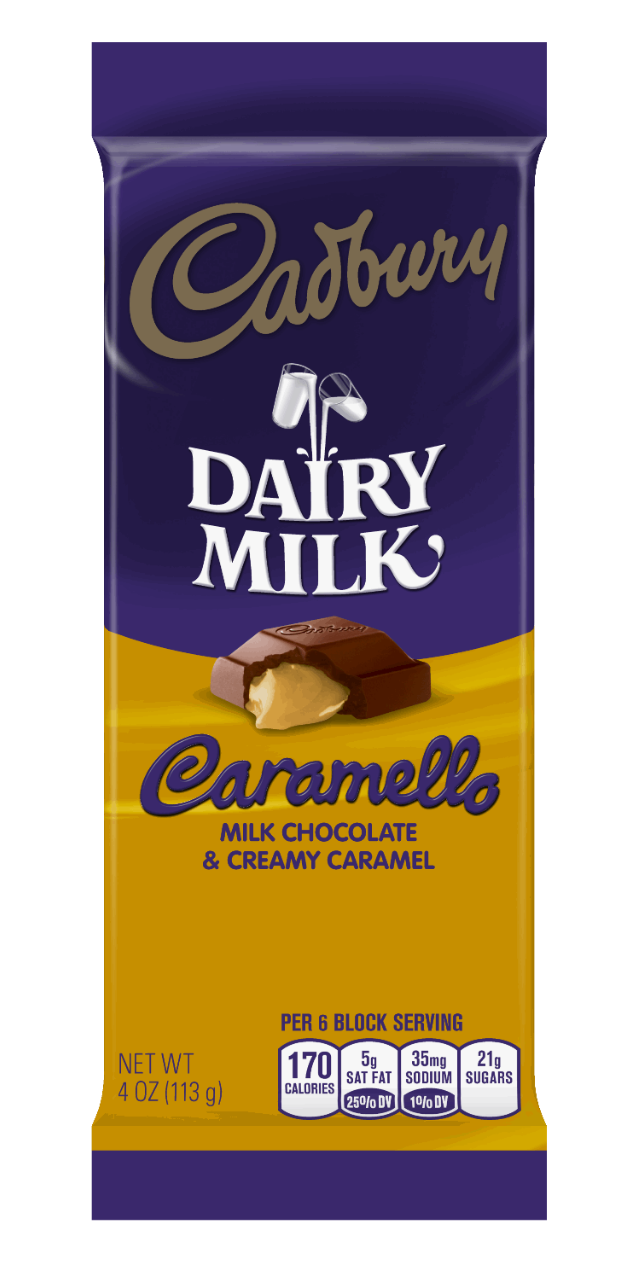Cadbury Dairy Milk Caramello Milk Chocolate & Creamy Caramel