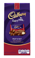 Cadbury Dairy Milk Fruit & Nut Milk Chocolate