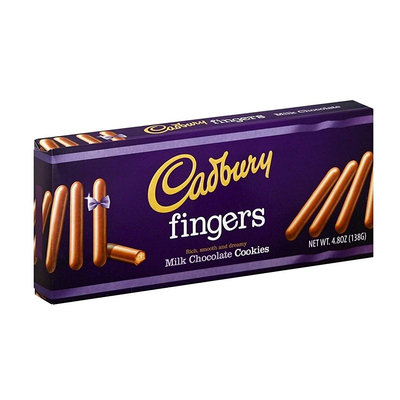 Cadbury Fingers Milk Chocolate Cookies