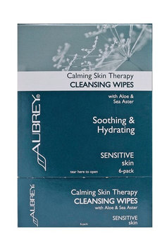 Aubrey Organic Calming Skin Therapy Cleansing Wipes - 6 Pack