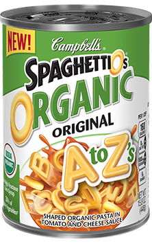 Campbell's SpaghettiOs Original A to Z's Organic Pasta With Tomato and Cheese Sauce
