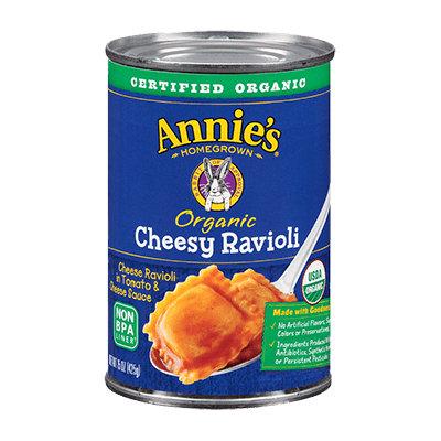 Annie's® Homegrown Organic Cheesy Ravioli in Tomato & Cheese Sauce