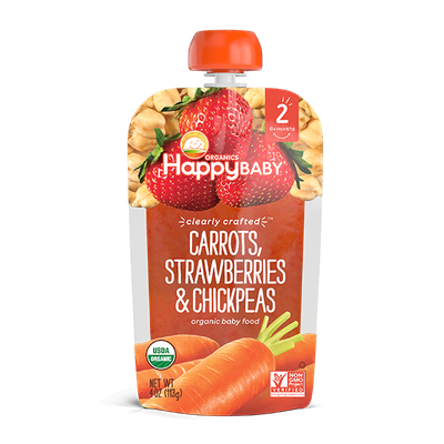 Happy Baby® Organics Clearly Crafted™ Carrots, Strawberries & Chickpeas