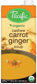 Pacific Natural Foods Cashew Carrot Ginger Soup