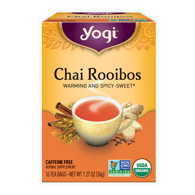 Yogi Tea, Organic, Chai Rooibos, Caffeine Free, Bags