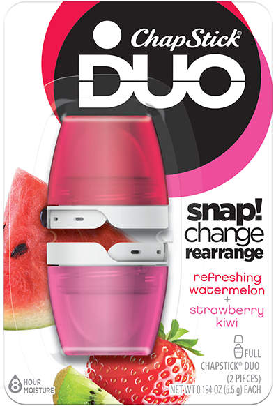 ChapStick® DUO Refreshing Watermelon & Strawberry Kiwi