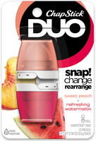 ChapStick® DUO Sweet Peach & Refreshing Watermelon