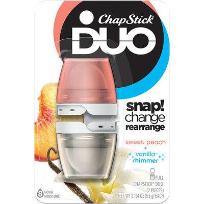 ChapStick® DUO Sweet Peach & Vanilla Shimmer Lip Balm