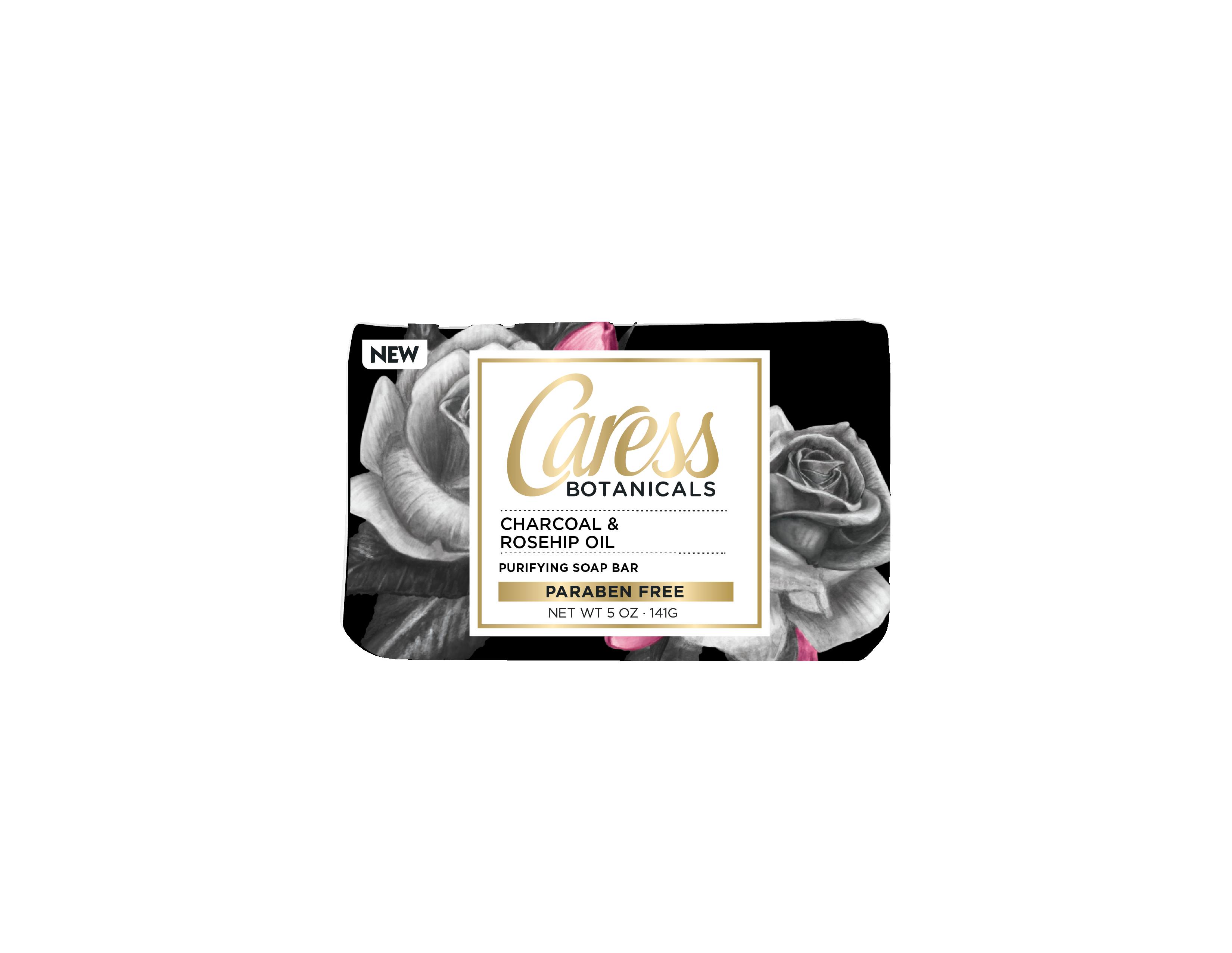 Caress® Botanicals Charcoal & Rosehip Oil Soap Bar