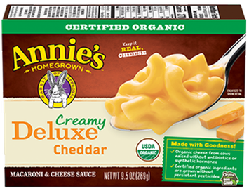 Annie's® Homegrown Organic Creamy Deluxe Elbows & Creamy Mild Cheddar Sauce