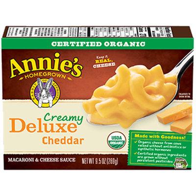 Annie's® Homegrown Organic Creamy Deluxe Elbows & Creamy Mild Cheddar Sauce