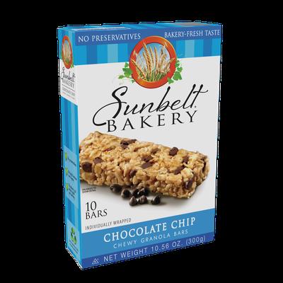 McKee Foods Sunbelt Bakery Chocolate Chip Granola Bars 10 ct
