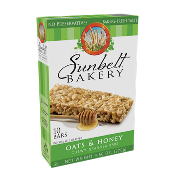 McKee Foods Sunbelt Bakery Oats & Honey Big Chewy Granola Bars - 10ct