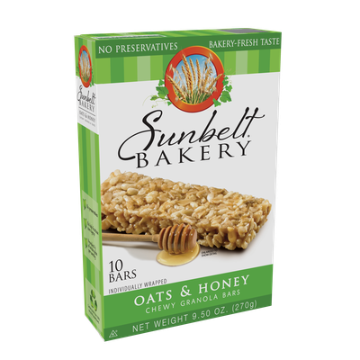 McKee Foods Sunbelt Bakery Oats & Honey Big Chewy Granola Bars - 10ct