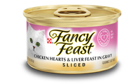 Fancy Feast® Sliced Chicken Hearts & Liver Gourmet Wet Cat Food In Gravy