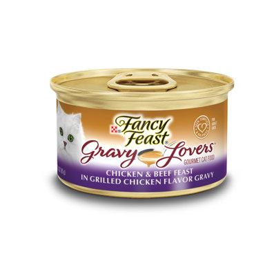 Fancy Feast® Gravy Lovers™ Chicken & Beef Wet Cat Food In A Grilled Chicken Flavor Gravy