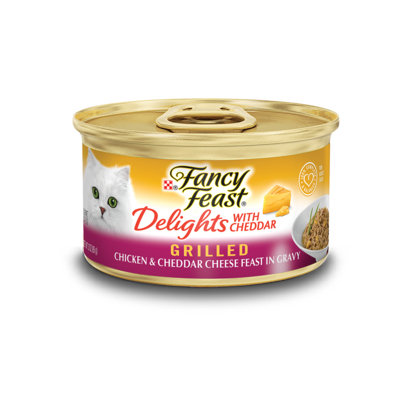 Fancy Feast® Delights With Cheddar Grilled Chicken & Cheddar Cheese Wet Cat Food In Gravy