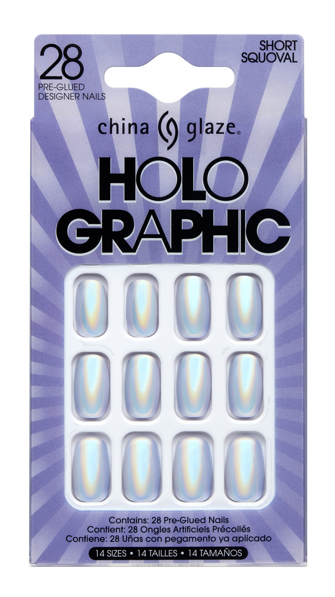 China Glaze Holographic Press On Tips