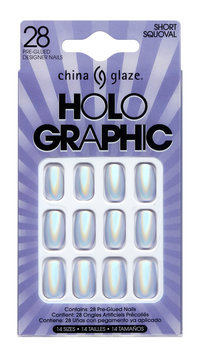 China Glaze Holographic Press On Tips