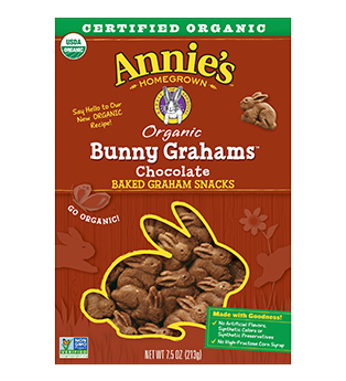 Annie's® Homegrown Bunny Grahams Snacks Chocolate