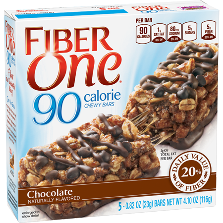 Fiber One 90 Calorie Chewy Bars Chocolate
