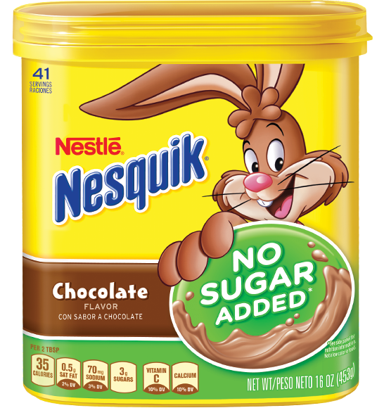 Nesquik® No Sugar Added Chocolate Flavor Powder