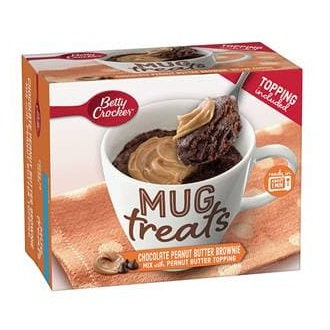 Betty Crocker™ Chocolate Peanut Butter Brownie Mix Mug Treats with Peanut Butter Topping