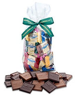 Ghirardelli Chocolate Squares Holiday Gift Bag (Decadent Dark)