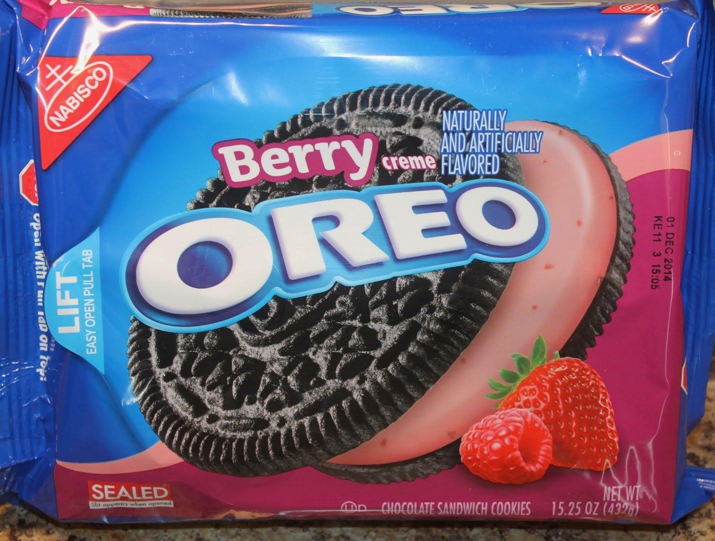 Nabisco Oreo - Sandwich Cookies - Chocolate Berry Creme
