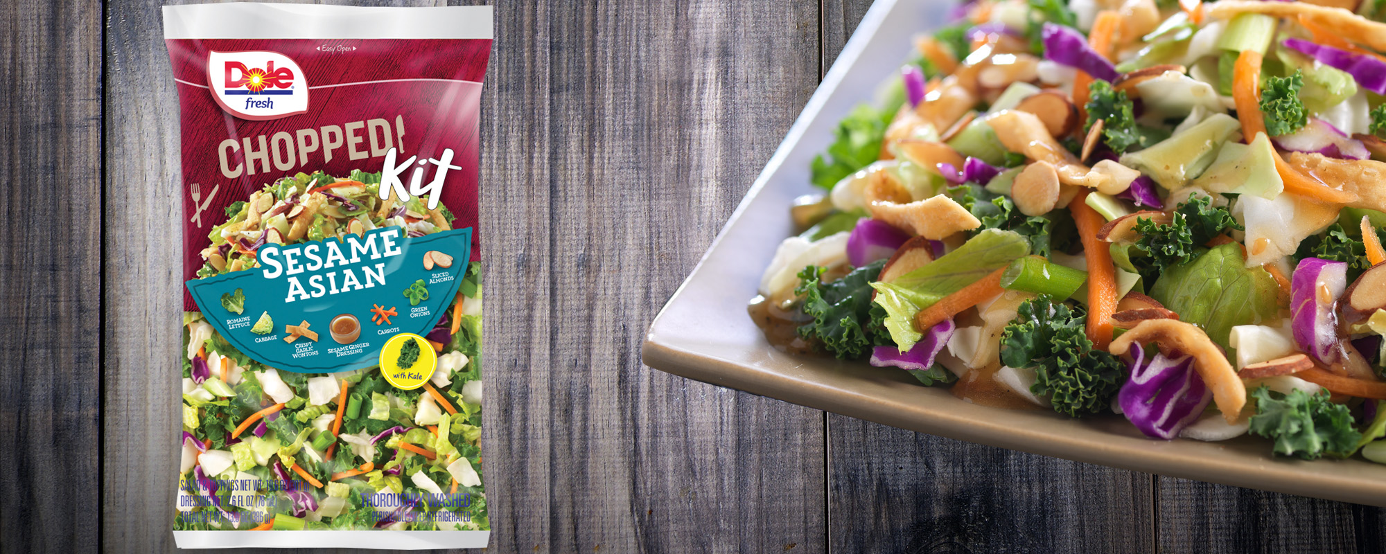 Dole Fresh Chopped Sesame Asian Salad Kit