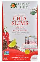 Chosen Foods - 100 Organic ChiaSlims Detox - 10 Sticks