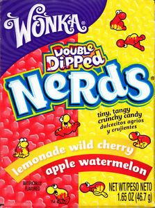 Wonka Nerds Apple Coated Watermelon & Lemonade Coated Wild Cherry