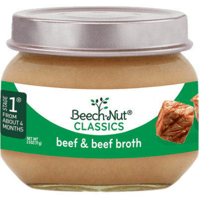 Beech-Nut® Stage 1 Classics Beef & Beef Broth