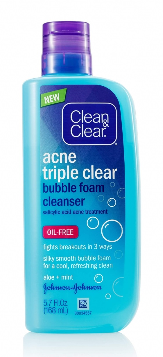 Clean & Clear® Acne Triple Clear™ Bubble Foam Cleanser
