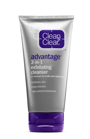 Clean & Clear® Advantage® 3-in-1 Exfoliating Cleanser