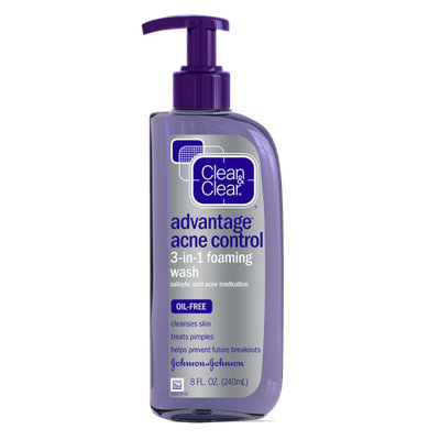 Clean & Clear® Advantage® Acne Control 3-in-1 Foaming Face Wash