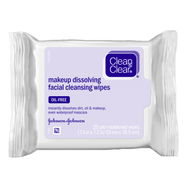 Clean & Clear® Makeup Dissolving Facial Cleansing Wipes