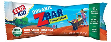 Clif Kid Zbar® Fruit & Veggie Awesome Orange